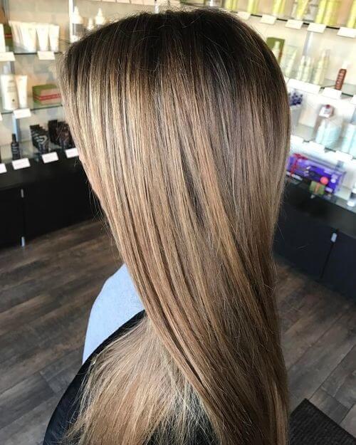 kahverengi saça ombre