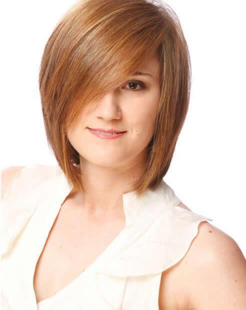 kısa ve katmanlı bob saç modeli
