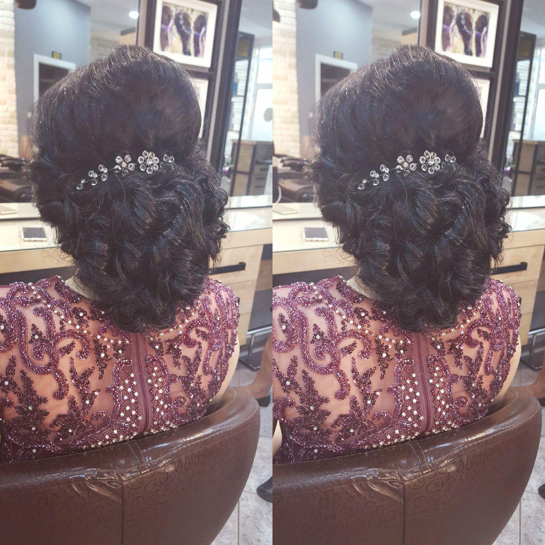 Tesettürlü Gelin saçı