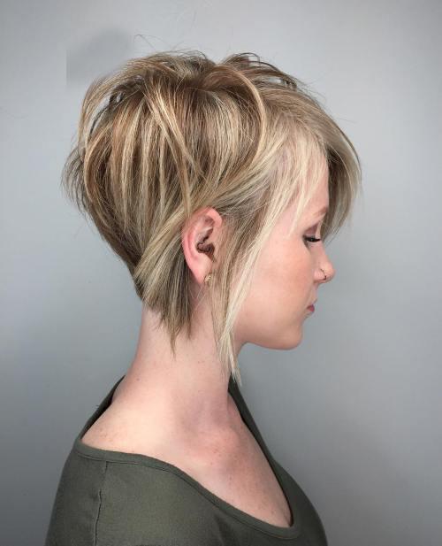 Asimetrik Kısa Saç Modeli