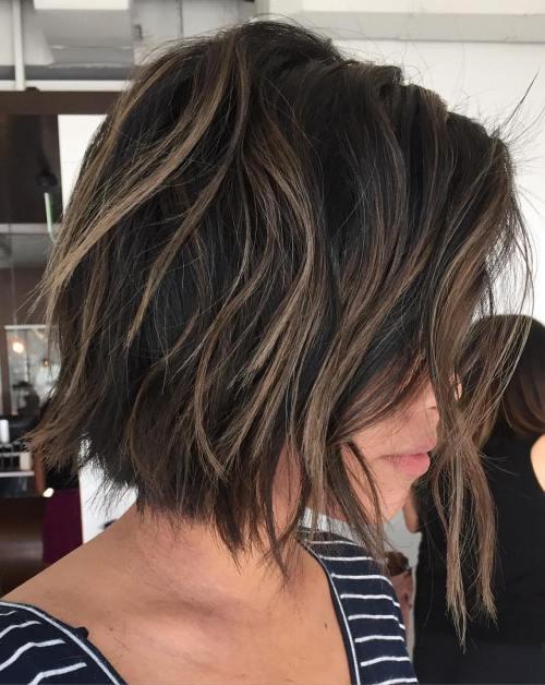 Doğal Dağınık Katmanlı Saç Model