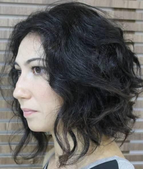 Kıvırcık Bob Saç Modeli