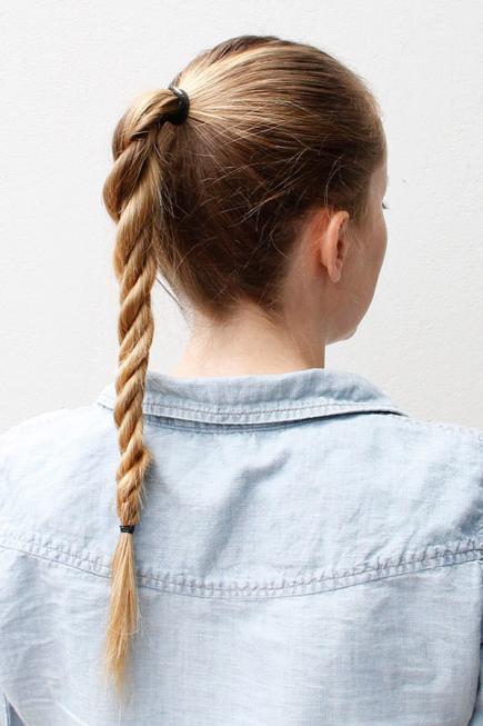 Meyan Örgüsü Saç Modeli