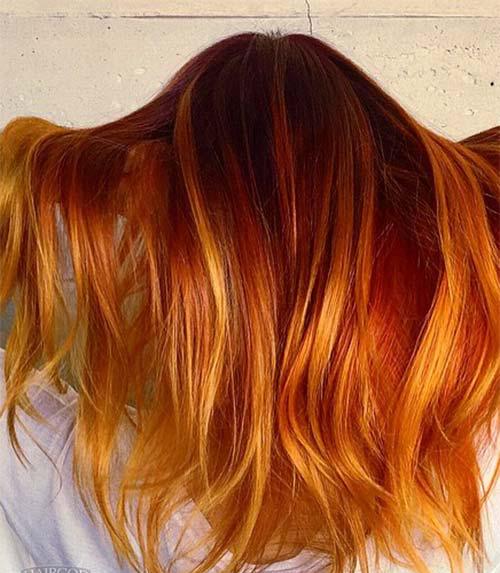 Bakır Ombre Saç Örnekleri