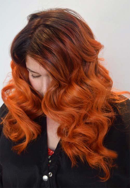 Bakır Renkte Saç Modeli