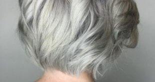 Gri Renkte Saç Modelleri