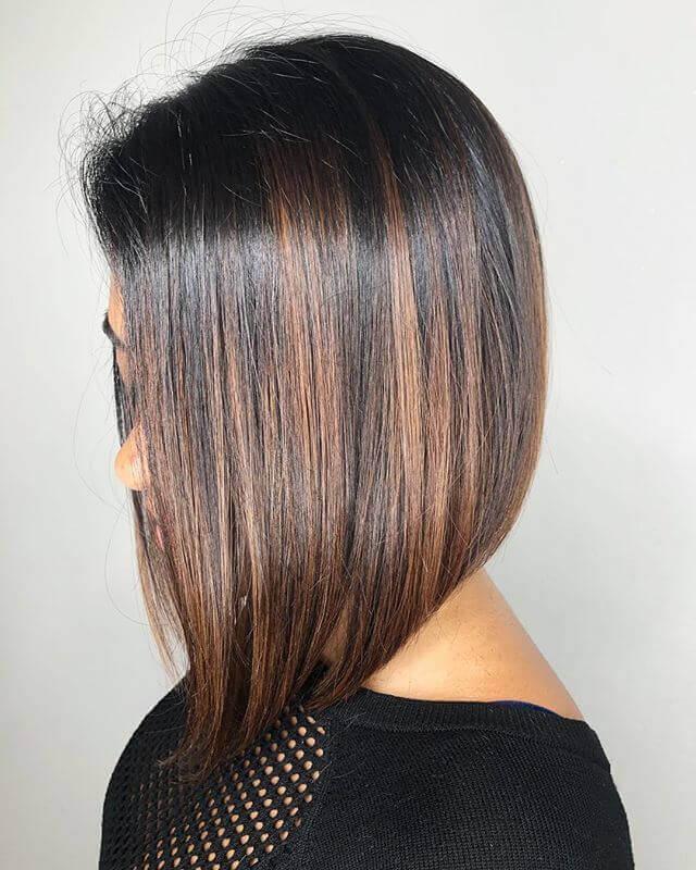 Bob Küt Kesim Kahverengi Saç Modeli Örneği