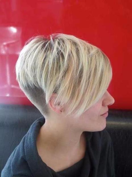 Undercut Kesim Sarı Saç Modelleri