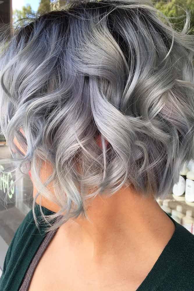 Dalgalı Gri Saç Modeli Örnekleri