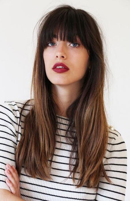 Düz Kahkül Saç Modeli