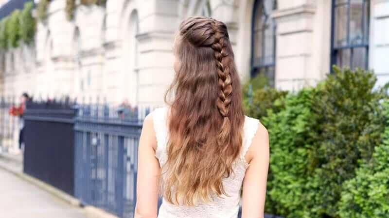 Kısa Saçlar İçin Fransız Örgüsü Saç Modeli