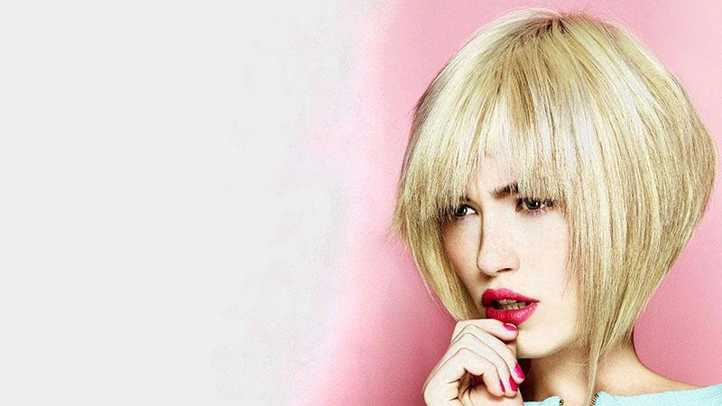 Sarı Tonlarında Ters Bob Saç Modeli
