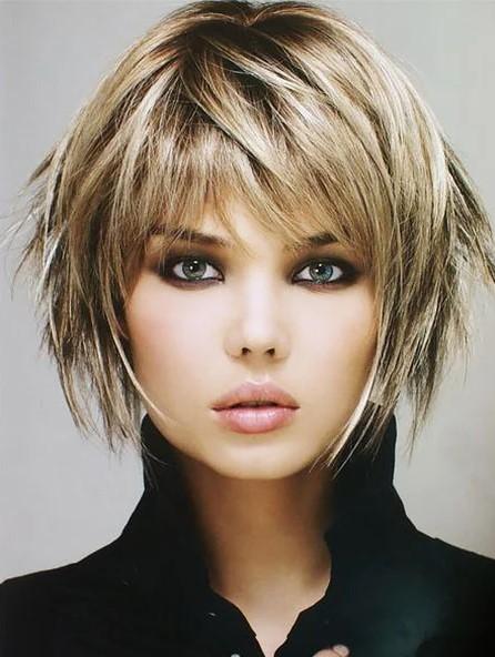 İnce Telli Kısa Katlı Saç Modeli