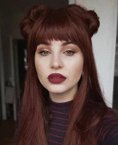 Kahverengi Tonlarda Kızıl Saç Modelleri
