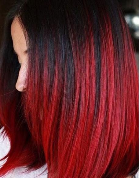 Kızıl ve Siyah Saç Model