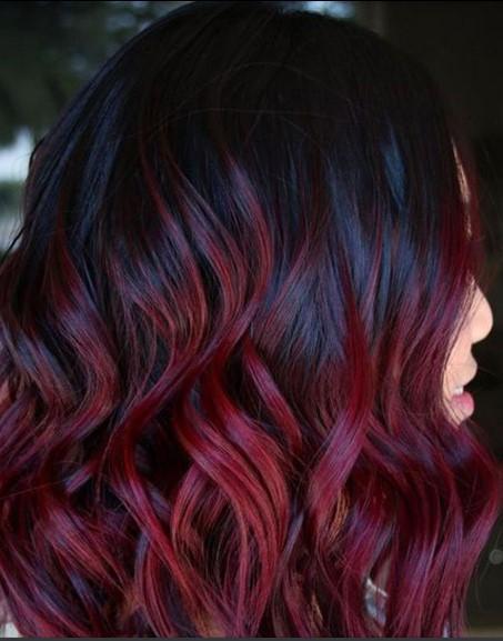 Kızıl Siyah Saç Modeli