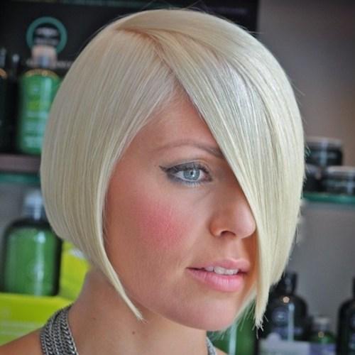 Beyaz Sarı Platin Saç Modelleri