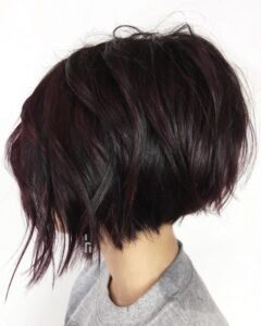 bob kesim siyah kısa saç