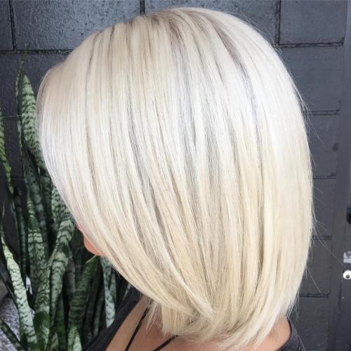 Kar Beyazı Platin Sarısı Saç Modelleri