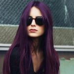 patlıcan moru uzun saç