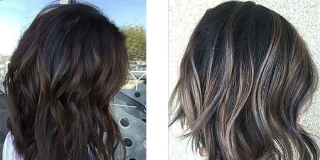 siyah saça yapılan balyaj