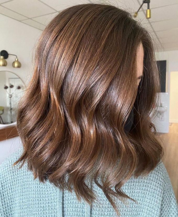 Açık Kahverengi Ombre Saç Modeli